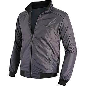 Áo khoác nam cách nhiệt GOKING 2 lớp, vải dù ấm áp, cản gió hiệu quả, thích hợp đông và thu đông (Màu ghi xám)