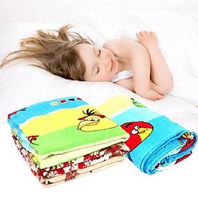 Chăn mền trẻ em bông tuyết nhung mền mịn hoạt hình cho bé trai và gái - Màu Ngẫu Nhiên