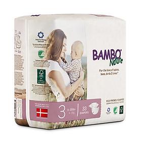 Thùng Tã Dán Em Bé Hữu Cơ Bambo Nature - gốc Đan Mạch - 4-9kg - M33 - 6 gói-4