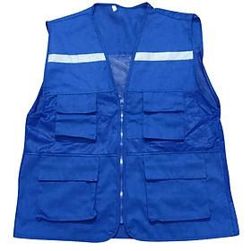 Áo ghile phản quang màu xanh công nhân