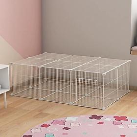 Combo 4 miếng Mảnh ghép chuồng chó đa năng kích thước 45x45 cm tặng kèm 8 chốt nhựa để lắp ghép quây chó mèo, lắp ghép kệ