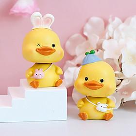 Mô hình vịt con lắc lư Crazy Duck ngộ nghĩnh đáng yêu
