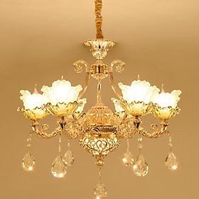 Đèn chùm ALISTAR phong cách Châu Âu hiện đại cao cấp loại 6, 8, 15 tay đẹp long lanh - Tặng kèm bóng Led cao cấp