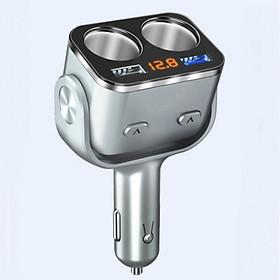 Bộ chia tẩu sạc trên ô tô 2 cổng 12V, 24V ORI 32 kích thước: 6.7 x 4.3 x 11 (cm) có cồng kết nối USB thích hợp cho nhiều thiết bị trên ô tô màu ngẫu nhiên