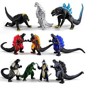 Bộ 10 Mô Hình Quái Vật Godzilla - Đại Chiến Quái Vật Khổng Lồ