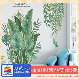 Sticker Giấy Dán Tường Decal Dán tường Mẫu Hoa Lá Cực Xinh ZH011