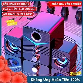 Loa vi tính để bàn XSmart MC D221 SUPER BASS cực đã, có LED, dòng loa cao cấp cho laptop, pc, điện thoại - Hàng Chính Hãng
