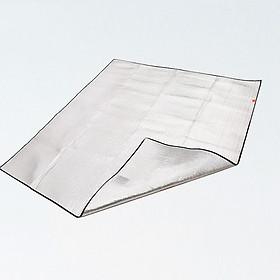 Tấm Trải Lều Cách Nhiệt Chống Nước kiêm chiếu trải du lịch, chiếu văn phòng (150 x 200 cm hai mặt tráng nhôm) B1316