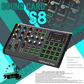 Soundcard S8 K20 - Soundcard thu âm, livestream, karaoke online cực hay - Có bluetooth - Có auto tune, có thể kết hợp cubase - Hàng chính hãng