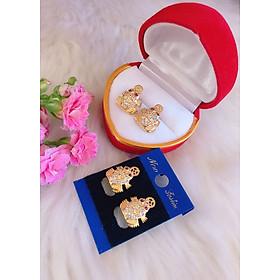 Bông tai nữ cóc mạ vàng 18k mã BT01