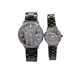 Cặp đồng hồ Nam Nữ Halei cao cấp - HL565 FULL den