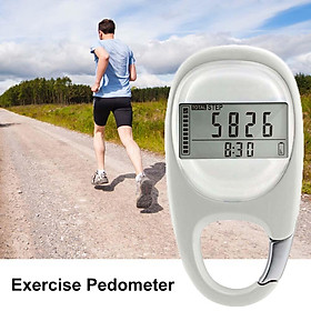 Walking Distance Fitness Calorie Exercise Pedometer Step Counting Portable Digital 3D Pedometer