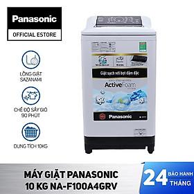 [Chỉ Giao Tại HCM] – Máy Giặt Cửa Trên Panasonic 10 Kg NA-F100A4GRV – Hàng Chính Hãng