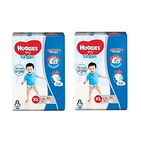 2 Gói Tã Dán Huggies Dry Gói Cực Đại XL62 (62 Miếng) - Bao Bì Mới