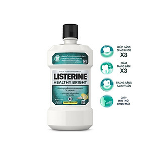 (Quà tặng) Nước súc miệng Listerine Healthy Bright trắng sáng 250ml - 210070625