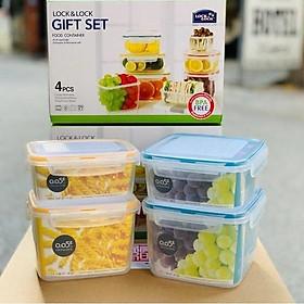 Bộ 4 hộp nhựa đựng thực phẩm Lock&Lock Neolock NLP211S001 (ZZF110N, 111N, 210N, 211N) + Color box - Hàng Chính Hãng