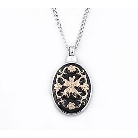 Urn Necklace Pendant Necklace Fashion Ashes Holder Flower Family Member Keepsake Women'S