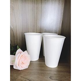 100 ly giấy 360 ml màu trắng 12 oz