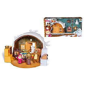 Đồ Chơi Nhà Gấu Mùa Đông Dành Cho Bé Yêu MASHA AND THE BEAR Masha Play Set ''Winter Bear's House'' 109301023 - Đồ Chơi Đức Chính Hãng