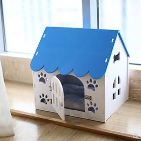 Nhà chuồng dễ thương cho chó mèo (giao màu ngẫu nhiên)