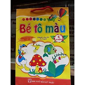 Bé tô màu - túi 6 cuốn dành cho bé 3 - 5 tuổi