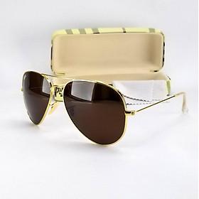 Mắt kính mát nam thời trang DKYRBTR tròng Polarized phân cực, gọng kim loại nhẹ không gỉ