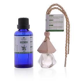 Combo tinh dầu hương thảo Lorganic (50ml) +tinh dầu hương thảo Lorganic treo xe hơi, tủ áo (10ml) LGN0086