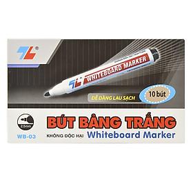 Hộp 10 Bút Lông Bảng Thiên Long WB03 - Đen