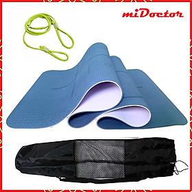 Thảm Tập Yoga Định Tuyến TPE 2 Lớp – Chọn Màu – Chọn Độ Dày + Bao Thảm Tập Yoga + Dây Buộc Thảm Tập Yoga Chính Hãng miDoctor