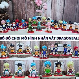 Mô hình dragon ball - Bộ 21 Nhân Vật Phim 7 Viên Ngọc Rồng - Songoku, Vegeta, Gogeta, Broly, Cell Bọ Hung, Majin Buu, Frieza - Sưu tầm, Trang trí bàn làm việc, case máy tính
