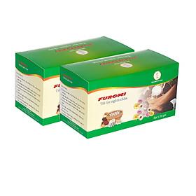 Combo 02 hộp Thảo Dược hỗ trợ điều trị đau khớp, mất ngủ, gout, khử mùi hôi chân, Người lạnh chân tay, buồn buốt, tê cứng, Người hay mệt mỏi, đau đầu, stress, mất ngủ - Ngâm chân Furomi (gói 5g)