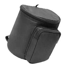 Baby Stroller Buggy Parent Phone Tissue Hanging Bag Linen Pocket w/ Zipper