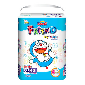 Combo 3 gói Tã quần Goo.n Friend XL40 thiết kế mới - tặng đồ chơi Toys house-1