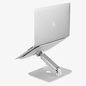 Đế Nhôm Gập 1 Chân Điều Chỉnh Độ Cao Tản Nhiệt Dành Cho Macbook, Laptop