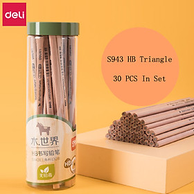 Deli 2B/2H/HB Pencil Student Writing Exam Drawing Sketch Special Pencil Wooden Triangle/Hexagon Rod Pencils Student Office Art Stationery
