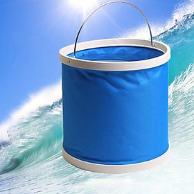 Thùng đựng nước gấp gọn có nắp màu xanh đa dung tích