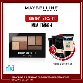 Bảng Phấn Mắt Maybelline New York 6 Màu The City Mini Palette 6.1g