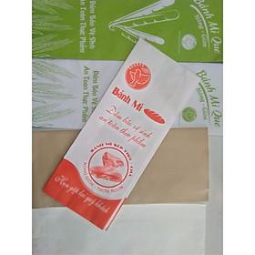 500 túi giấy đựng bánh mì ( giao màu ngẫu nhiên)