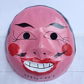Mặt nạ trung thu truyền thống màu hồng - Mẫu đàn ông ( loại nửa đầu)