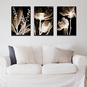 Set 3 tranh Canvas Hoa 40x60 cm