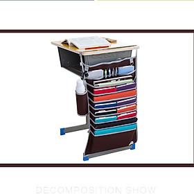 Túi oxford 14 ngăn thông minh treo bàntiết kiện diện tích đựng tài liệu,sách vở, đồ dùng học tập kèm giỏ đựng đồ uống siêu tiện dụng- giao màu ngẫu nhiên