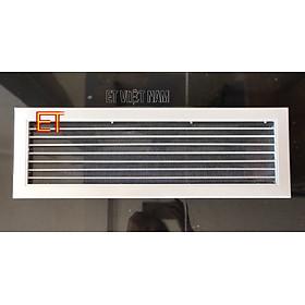 Vỉ gió kèm LƯỚI INOX chống muỗi, chống chuột, Vỉ gió trang trí, Vỉ gió thông khí hình chữ nhật 550x150mm
