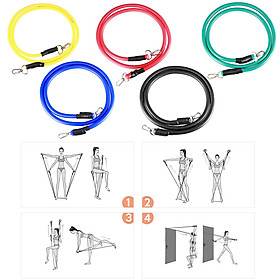 16pcs Fintess Resistance Bands Set Exercise Tube Bands Jump Rope Door Anchor Ankle Straps Cushioned Handles Fitness-5