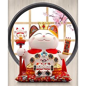 Mèo Thần Tài Vẫy Tay Vua Chúa - Cao 28cm