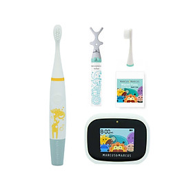 Bộ bàn chải tập đánh răng Premium cho bé từ 3 tuổi Marcus & Marcus - Lola