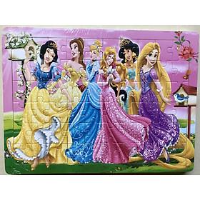 Tranh ghép hình 56-60 mảnh bằng gỗ SK - hình Công chúa