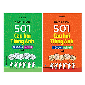 Combo Tuyển Chọn 501 Câu Hỏi Tiếng Anh - Từ Vựng Ngữ Pháp  (Tập 1 + 2)