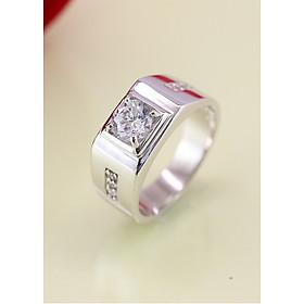 Hình đại diện sản phẩm Nhẫn bạc nam đẹp đính đá trắng NNA0030