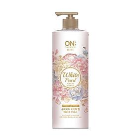 Sữa tắm dưỡng ẩm hương nước hoa On: The Body Perfume White Pearl bột ngọc trai Hương thư giãn 1000g