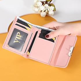 Ví nữ gấp 3 mini dễ thương nhỏ gọn bỏ túi cao cấp nhiều ngăn đựng tiền giá rẻ VD220